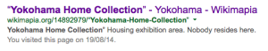 Wikimapia's description of the Yokohama Home Collection